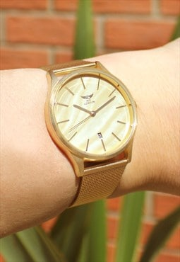 Deluxe Gold Stone Watch with Date