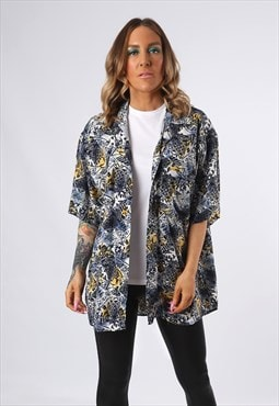Print Patterned Shirt Oversized Fitted UK 16 - 18 (EDCE)