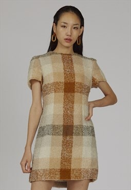 RARE vintage 60's fully lined Valentino boucle tweed dress