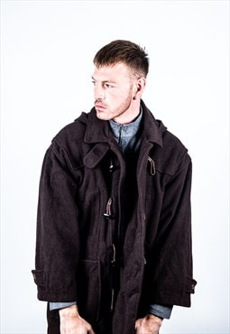 Vintage Duffle Coat in Brown