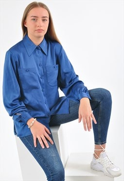 Vintage 90's long sleeve shirt in blue