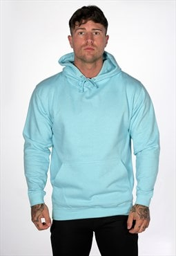 Unbranded Plain Blank Staple Hoody - Mint Blue
