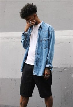 RARE Vintage LEVI'S  Denim Long Sleeve Shirt