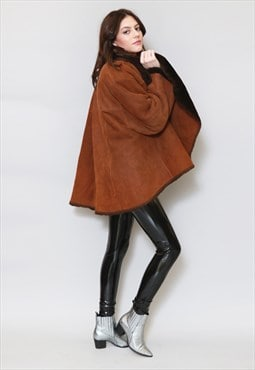 Vintage 1970's Stunning Brown Shearling Coat