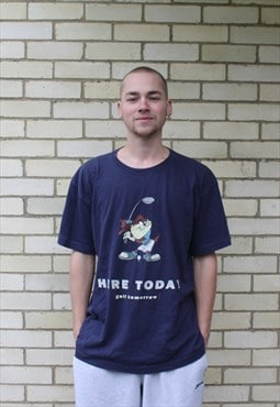 Vintage 1990s Navy Looney Tunes Print T-Shirt