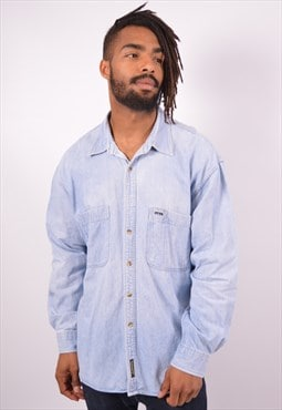 Vintage Timberland Denim Shirt Blue
