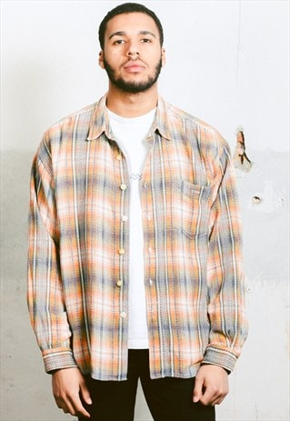 VINTAGE PLAID FLANNEL SHIRT