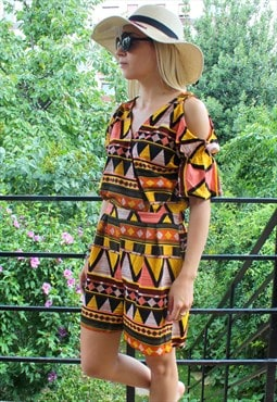 playsuit ethnic print size M