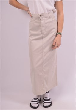 Lee Womens Vintage Skirt W32 Beige 90s