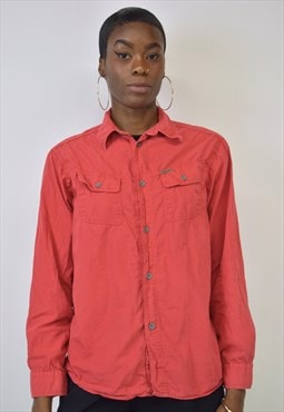 Vintage 90s Calvin Klein Red Button Up Shirt
