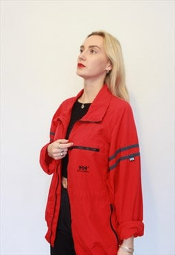 Vintage 90s Helly Hansen Red WIndbreaker Jacket Unisex XL