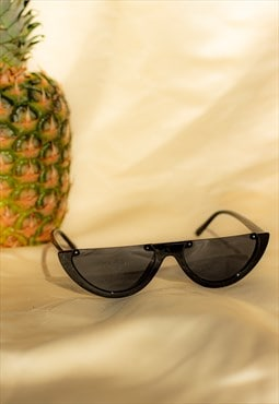 Half Frame Sunglasses Black