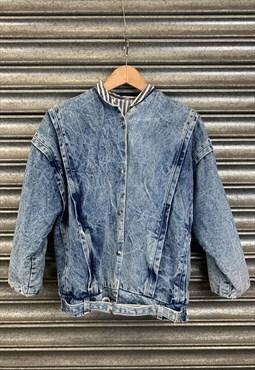 80s Washed Denim Batwing Jacket