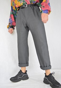 Vintage grey classic suit straight trousers
