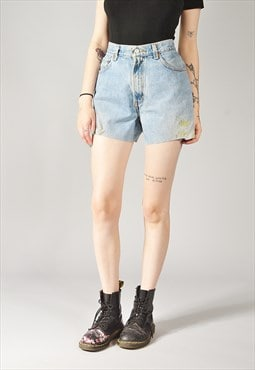 Vintage Levi's Relaxed Denim Shorts Mid Blue