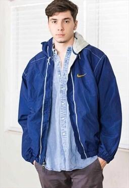 Vintage Nike Hoodie Jacket Logo 90s L 29.4