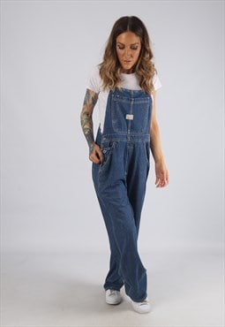Vintage Denim Dungarees Wide Leg UK 12 Medium  (RBF)
