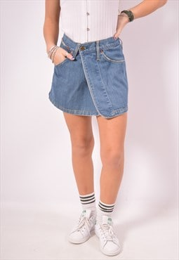 Vintage Levi's Wrap Denim Skirt Blue