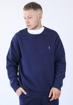 Vintage Mens YSL Logo Jumper Sweater