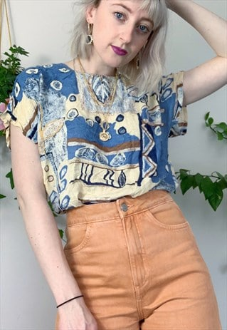 VINTAGE RETRO PATTERNED TOP