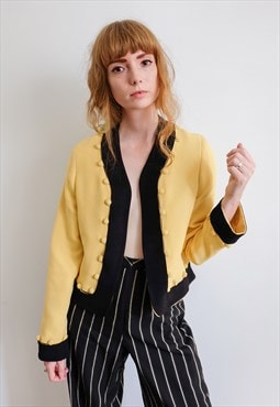 Vintage 90s Moschino Yellow Blazer Jacket