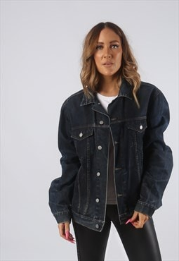 Vintage Denim Jacket Oversized Fitted UK 16 XL (HDN)