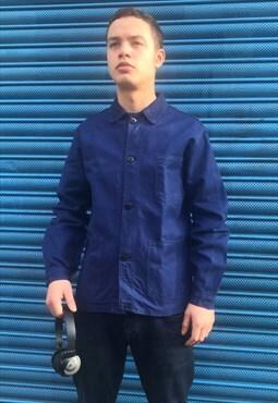 Vintage French Dark Blue Workwear Jacket