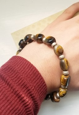 Tiger's eye tumble stone bracelet