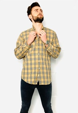 Authentic Vintage Shirt Nova Check Size S 214SK23