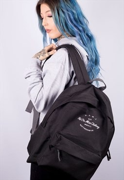 H.O.M.C Embroidered Black Backpack