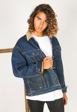 Vintage 80s Original Lee Lined Denim Jacket / 7545