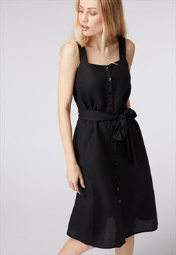 Princess Highway Black Pinafore Style Dress