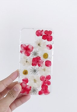 Handmade real flowers Iphone /Samsung case