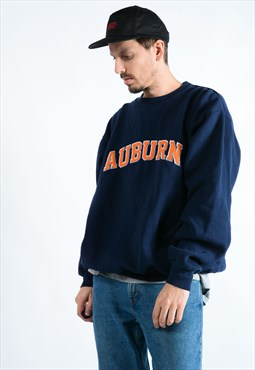 Vintage Navy Sweatshirt With Auburn Logo