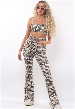 Houndstooth Check Cami & Flares Co-Ord