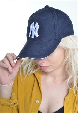 Vintage New York Yankees Baseball Cap Hat Blue