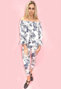 Pink Frill Floral Co-Ordinates