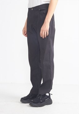 Vintage Dark Grey Trousers Bottoms