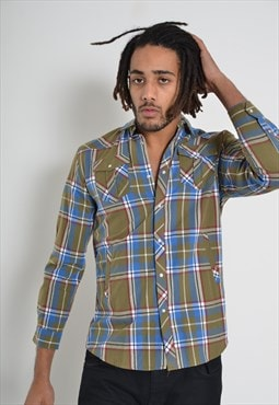 Vintage French Connection Check Flannel Shirt Green