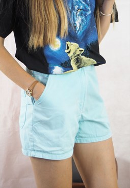 Vintage Blue High waisted Shorts