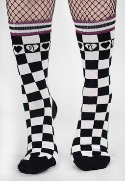 'Life And Death' Checkerboard Socks
