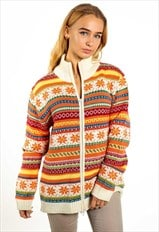 Vintage Patterned Zip Up Jumper K169
