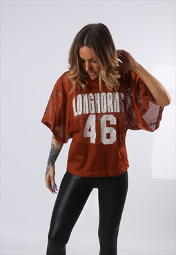 Oversized T-Shirt Sport Jersey Top Football UK 10 - 12 (EQ4O