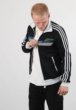 Vintage Adidas Embroidered Logo Zipped Sweatshirt