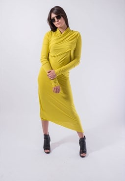 Long Sleeved Maxi Dress/Casual Evening Elegant Dress/F1830