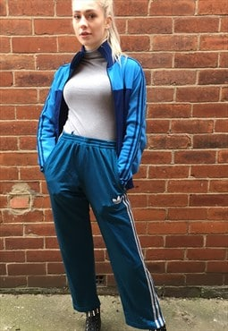 vintage ADIDAS trousers jogging pants blue SMALL 8 10