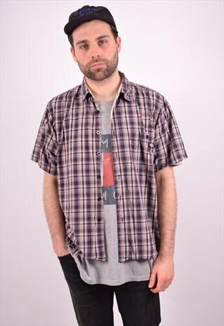 DICKIES MENS VINTAGE SHIRT XL MULTI CHECK 90S