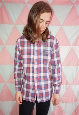 Vintage 80s Levi's Red and Blue Check Lumberjack Shirt