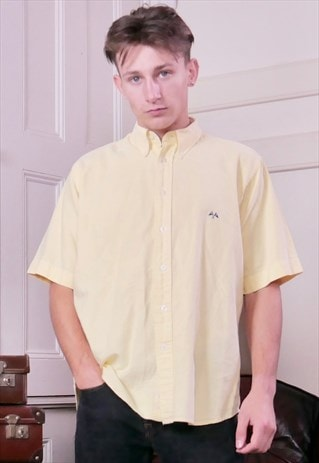 VINTAGE MENS BURBERRY SHIRT YELLOW