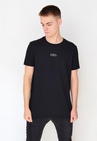 BLACK COORDINATES T-SHIRT